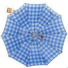 10k three fold check polyester  umbrella