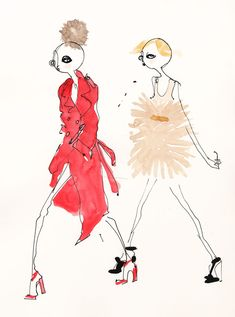 sr autumn/winter 2010 #fashion #illustration #red