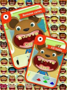 A fun role-play app to teach kids about dental health and instruments used by dentists. Games For Kids, Activities For Kids, Dentist Games, Affordable Dental Implants, Preschool Speech Therapy, App Of The Day, Dental Art, Dental Health, Oral Health