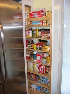 Custom pantry pullout we made and installed as part of kitchen remodel.
