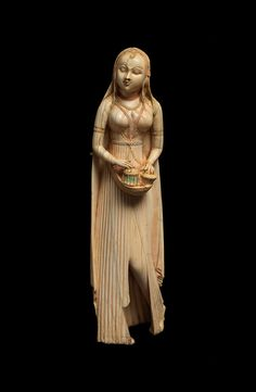 Ivory with traces of polychrome India 18th century