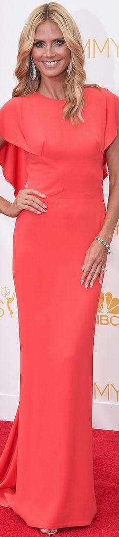 2014 Emmy Red Carpet / Heidi Klum in Zac Posen