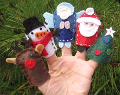 christmas finger puppets for kids to make