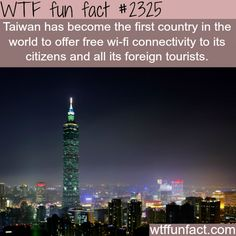 Countries with free wifi -WTF funfacts: they know whats up!