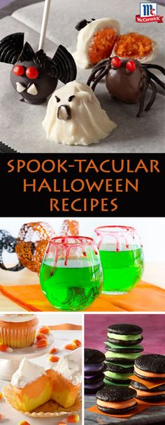 Planning a Halloween Party? Try new decorating tricks for your treats with these spook-tacular Halloween Recipes, all you need for a perfect Fall party! Click through to explore all of our Halloween drink, snack and dessert recipes.