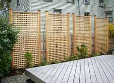 Privacy Fence Designs for Decks . Privacy Fence Designs for Decks . Stunning 70 Easy and Cheap Privacy Fence Design Ideas S Cheap Privacy Fence, Privacy Fence Designs, Privacy Landscaping, Patio Privacy, Landscaping Ideas, Outdoor Privacy Panels, Lattice Fence Privacy, Lattice Wall, Back Yard Privacy Ideas