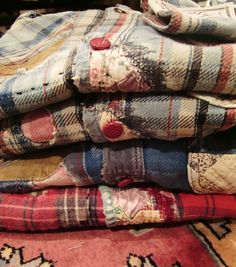 what's old is new again: patched and pieced plaids :: Kapital Japan