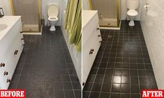 Mother shares her VERY simple solution that leaves grimy bathroom tiles impossibly shiny in minutes | Daily Mail Online Sugar Soap, Dishwashing Liquid, Natural Cleaning Products, Bathroom Flooring, Daily Mail, Cleaning Hacks, Tile Floor, Tiles, Mail Online