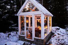 Diy Greenhouse Plans, Backyard Greenhouse, Backyard Landscaping, Garden Images, Natural Garden, Outdoor Christmas, Farm Life, Outdoor Spaces, Outdoor Gardens