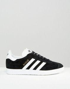 Adidas | adidas Originals Black Suede Gazelle Trainers