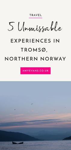 Tromsø is one of the most magical places I've been to. A bustling city tucked amongst the fjords, 190 miles North of the Arctic circle. I've shared the 5 experiences you won't want to miss.