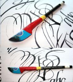 cola pen calligraphy