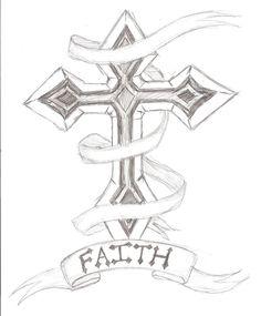 Cross Outline Tattoo Designs   Cross Tattoo Design by ~The-Sketch-Artist on deviantART