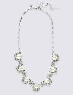 Wildlife by Heidi Klum Simulated Opal Pendant Necklace Chain QVC $68 Sold Out!