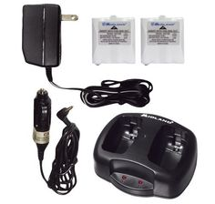 Midland AVP-6 Battery and Charger Pack for Two-Way Radios by Midland. $16.59. For Mdllxt320, Mdllxt420, Mdllxt600 & Mdllxt650; Includes dual desktop charger, AC wall adapter, DC vehicle adapter and rechargeable battery pack; New; Includes 2 Rechargeable Nimh Battery Packs, Dual-Slot Desktop Charger & Ac/Dc Adapters; Compatible with LXT320 and LXT420 models. Make sure you don't lose communication between your Midland 2-way radios because of dead batteries. Keep...