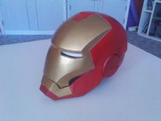 I think this is the biggest project I've done yet. My favourite movie is the Iron Man and I wanted to get an Iron Man helmet, but I'm a student and I couldn't afford it. Then I decided to make one. Now I've done and I really like this helmet. I'm happy that I didn't buy one.