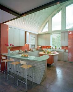 Green in kitchen and colors on pinterest - Peach color kitchen ...