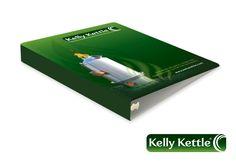 Client: Kelly Kettle, Co. Brand Identity Design, Logo Design, Graphic Design, Kelly Kettle, Folder Design, Print Design, Ireland, Irish, Visual Communication