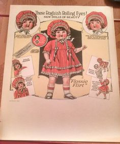 Vintage 1920s Ideal Flossie Flossy Flirt Doll All by Lisa4Vintage