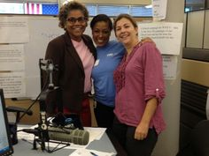 Keli's photo op with Maikin Scott and Joann Allen @WHYY