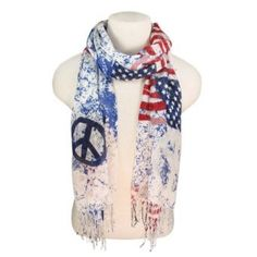 American Flag Peace Scarf