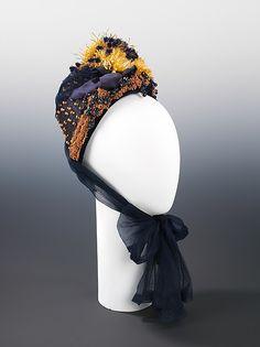 Bonnet Designer: Aitken Son & Company Date: ca. 1885 Culture: American Medium: straw, silk