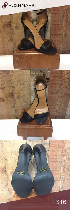 Charlotte Russe Black Strap Heels Sexy ankle strap black high heels in excellent condition. Charlotte Russe Shoes Heels