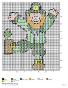 HAPPY LEPRECHAUN by TRICIA - ST. PATRICK'S DAY WALL HANGING