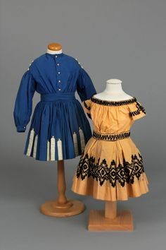 Dress, 1860-1870 and Two-piece Dress, 1865-1870 | Chester County Historical Society