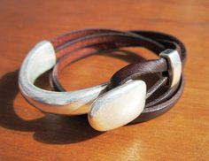 women leather bracelet genuine brown leather bracelet por kekugi
