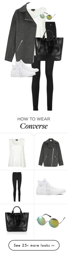 """Untitled #9623"" by alexsrogers on Polyvore featuring Versace, Acne Studios, Converse, Revo and Burberry"