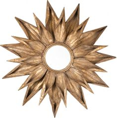 With an eclectic mix of rustic finishes and dramatic rings of petals, the Gold Sunburst Mirror is an inspired choice for your home. http://www.scenariohome.com/collections/kendrarichards/products/gold-sunburst-mirror