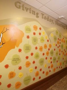 another leaf donor wall http://www.thememorialhospital.com/img/site_specific/uploads/crop_sm_Donor_Wall.jpg