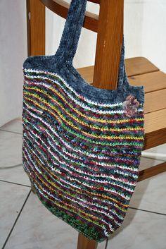 gehäkelte Plastiktüten-Tasche