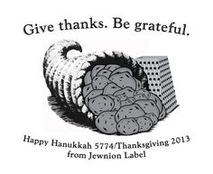 Jewnion Label's Hanukkah / Thanksgiving greetings! www.jewnionlabel.com