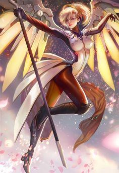 Overwatch, Mercy, by yang fan