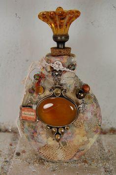 altered bottles shabby | Altered Bottle