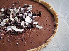 chokladpaj paleo glutenfri mejerifri Paleo, Lchf, Gluten Free Recipes, Free Food, Food And Drink, Pudding, Mat, Baking, Desserts