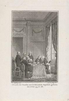 Sluiten van alliantie tussen Frankrijk en de Bataafse Republiek, 1795, Christiaan Josi, 1800