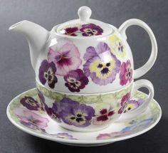 tea for one teapots limoges | Tea For One (Stacking Teapot W/Cup & Saucer) 4 1/2