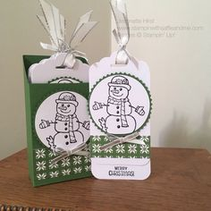 Christmas Gift Tags using Seasonal Chums stamp set and Quilted Christmas Designer Series Paper – Stampin' Up products. After my last project I really wanted to create some fun gift tags…