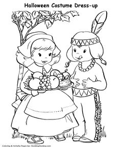 old fashioned halloween coloring pages | coloring old fashion children on Pinterest | Picasa ...