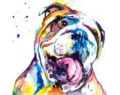 Französische Bulldogge Frenchie Kunstdruck  Print von