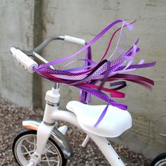 Streamers for your Bike, Trike, or Scooter Handlebars - Retro, Cool & Handmade - Purples