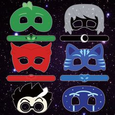 Printable colored pj masks