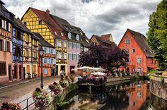 COLMAR, FRANCE - Quartier de la Krutenau (Little Venice)