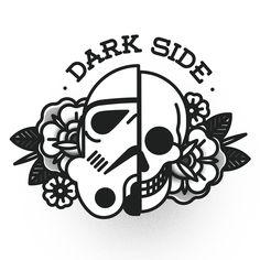 Star wars tattoo, war tattoo, tattoo art, tattoo flash, small t Tattoos 3d, Tattoo Drawings, Body Art Tattoos, I Tattoo, Cool Tattoos, Tattoo Flash, Tatoos, Tatuagem Old School, Star Wars Tattoo