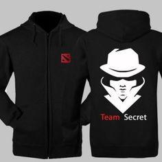 Jogo Dota 2 fecha acima o hoodie para homens Plus Size equipe secreta