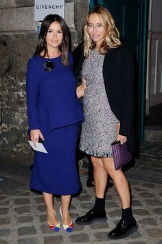 Le premier rang du défilé Givenchy Alexandra Golovanoff et Miroslava Duma. © Getty Images