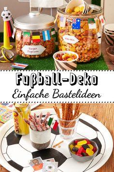 So wird das Public Viewing zuhause ein Riesenspaß! #fussball #deko #diy Studio, Breakfast, Food, Simple Diy, Make Your Own, Ad Home, Crafting, Morning Coffee, Essen